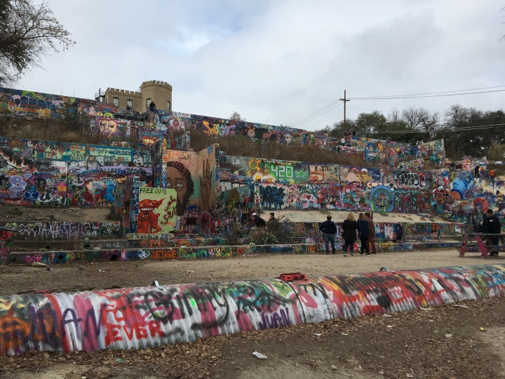 Graffiti Park in the Heart of Austin