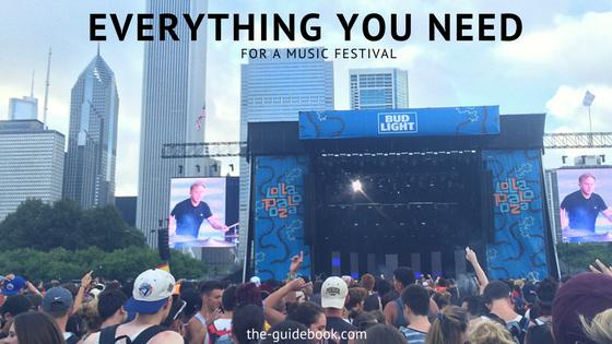 music festival essentials